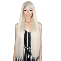 Glamourtress, wigs, weaves, braids, half wigs, full cap, hair, lace front, hair extension, nicki minaj style, Brazilian hair, crochet, hairdo, wig tape, remy hair, Lace Front Wigs, Motown Tress Seduction Synthetic Lace Deep Part Wig - SEPIA34