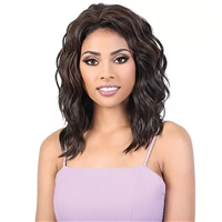 Glamourtress, wigs, weaves, braids, half wigs, full cap, hair, lace front, hair extension, nicki minaj style, Brazilian hair, crochet, hairdo, wig tape, remy hair, Lace Front Wigs, Motown Tress Synthetic Quick n Easy Half Wig - QE GINNY