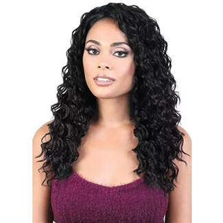 Glamourtress, wigs, weaves, braids, half wigs, full cap, hair, lace front, hair extension, nicki minaj style, Brazilian hair, crochet, hairdo, wig tape, remy hair, Lace Front Wigs, Motown Tress Synthetic Quick n Easy Half Wig - QE SABLE