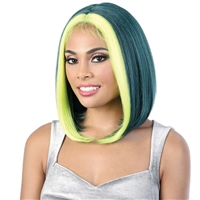 Glamourtress, wigs, weaves, braids, half wigs, full cap, hair, lace front, hair extension, nicki minaj style, Brazilian hair, crochet, hairdo, wig tape, remy hair, Lace Front Wigs, Motown Tress Synthetic Zig Zag Part Let's Lace Wig - LZ JENNA