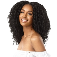 Glamourtress, wigs, weaves, braids, half wigs, full cap, hair, lace front, hair extension, nicki minaj style, Brazilian hair, crochet, hairdo, Outre Big Beautiful Hair Clip-In 9 - 4A-Kinky Curly 10""