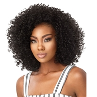 Glamourtress, wigs, weaves, braids, half wigs, full cap, hair, lace front, hair extension, nicki minaj style, Brazilian hair, crochet, hairdo, wig tape, remy hair, Lace Front Wigs, Remy Hair, Outre Synthetic Big Beautiful Hair Half Wig - 3A Passion Curl