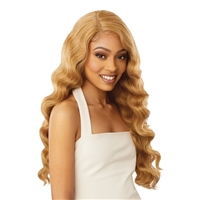 Glamourtress, wigs, weaves, braids, half wigs, full cap, hair, lace front, hair extension, nicki minaj style, Brazilian hair, crochet, hairdo, wig tape, remy hair, Lace Front Wigs, Outre Synthetic Swiss HD Lace Front Wig - ISLA
