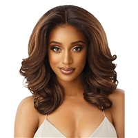 Glamourtress, wigs, weaves, braids, half wigs, full cap, hair, lace front, hair extension, nicki minaj style, Brazilian hair, crochet, hairdo, wig tape, remy hair, Lace Front Wigs, Outre Perfect Hairline 13X6 Synthetic Lace Wig - JULIANNE