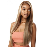 Glamourtress, wigs, weaves, braids, half wigs, full cap, hair, lace front, hair extension, nicki minaj style, Brazilian hair, crochet, hairdo, wig tape, remy hair, Lace Front Wigs, Outre Color Bomb Synthetic Swiss Lace Front Wig - KOURTNEY