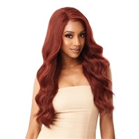 Glamourtress, wigs, weaves, braids, half wigs, full cap, hair, lace front, hair extension, nicki minaj style, Brazilian hair, crochet, hairdo, wig tape, remy hair, Lace Front Wigs, Outre Synthetic Swiss HD Lace Front Wig - LILIA