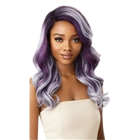 Glamourtress, wigs, weaves, braids, half wigs, full cap, hair, lace front, hair extension, nicki minaj style, Brazilian hair, crochet, hairdo, wig tape, remy hair, Lace Front Wigs, Outre Color Bomb Synthetic Swiss Lace Front Wig - ZOEY