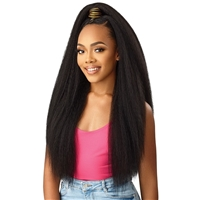 Glamourtress, wigs, weaves, braids, half wigs, full cap, hair, lace front, hair extension, nicki minaj style, Brazilian hair, crochet, hairdo, wig tape, remy hair, Lace Front Wigs, Outre Premium Synthetic Converti Cap + Wrap Pony Wig - BOLD & IRRESISTIBLE