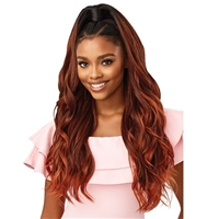 Glamourtress, wigs, weaves, braids, half wigs, full cap, hair, lace front, hair extension, nicki minaj style, Brazilian hair, crochet, hairdo, wig tape, remy hair, Lace Front Wigs, Outre Premium Synthetic Converti Cap + Wrap Pony Wig - SUNSHINE & ME