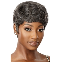 Glamourtress, wigs, weaves, braids, half wigs, full cap, hair, lace front, hair extension, nicki minaj style, Brazilian hair, crochet, hairdo, wig tape, remy hair, Lace Front Wigs, Remy Hair, Outre 100% Human Hair Fab & Fly Gray Glamour Wig - HH ADDISON