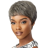Glamourtress, wigs, weaves, braids, half wigs, full cap, hair, lace front, hair extension, nicki minaj style, Brazilian hair, crochet, hairdo, wig tape, remy hair, Lace Front Wigs, Remy Hair, Outre 100% Human Hair Fab & Fly Gray Glamour Wig - HH EDEN