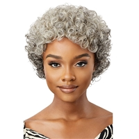 Glamourtress, wigs, weaves, braids, half wigs, full cap, hair, lace front, hair extension, nicki minaj style, Brazilian hair, crochet, hairdo, wig tape, remy hair, Lace Front Wigs, Remy Hair, Outre 100% Human Hair Fab & Fly Gray Glamour Wig - HH VERONICA
