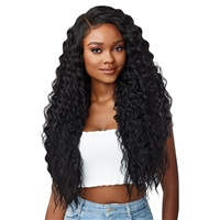 Glamourtress, wigs, weaves, braids, half wigs, full cap, hair, lace front, hair extension, nicki minaj style, Brazilian hair, crochet, hairdo, wig tape, remy hair, Lace Front Wigs, Outre Perfect Hairline 13X6 Faux Scalp HD Lace Wig - CHEYENNE