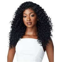 Glamourtress, wigs, weaves, braids, half wigs, full cap, hair, lace front, hair extension, nicki minaj style, Brazilian hair, crochet, hairdo, wig tape, remy hair, Lace Front Wigs, Outre Perfect Hairline 13X6 Faux Scalp HD Lace Wig - DOMINICA