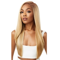 Glamourtress, wigs, weaves, braids, half wigs, full cap, hair, lace front, hair extension, nicki minaj style, Brazilian hair, crochet, hairdo, wig tape, remy hair, Lace Front Wigs, Outre Perfect Hairline 13X6 Faux Scalp HD Lace Wig - JAYLANI