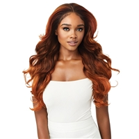 Glamourtress, wigs, weaves, braids, half wigs, full cap, hair, lace front, hair extension, nicki minaj style, Brazilian hair, crochet, hairdo, wig tape, remy hair, Lace Front Wigs, Outre Perfect Hairline 13X6 Faux Scalp HD Lace Wig - LAUREL