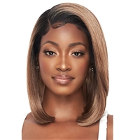 Glamourtress, wigs, weaves, braids, half wigs, full cap, hair, lace front, hair extension, nicki minaj style, Brazilian hair, crochet, hairdo, wig tape, remy hair, Lace Front Wigs, Outre Perfect Hairline 13X4 Faux Scalp HD Lace Wig - SKYE