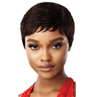 Glamourtress, wigs, weaves, braids, half wigs, full cap, hair, lace front, hair extension, nicki minaj style, Brazilian hair, crochet, hairdo, wig tape, remy hair, Lace Front Wigs, Remy Hair, Outre 100% Human Hair Fab & Fly Wig - HH JUDE
