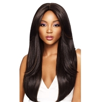 Glamourtress, wigs, weaves, braids, half wigs, full cap, hair, lace front, hair extension, nicki minaj style, Brazilian hair, crochet, hairdo, wig tape, remy hair, Lace Front Wigs, Remy Hair, Outre &Play Human Hair Blend Lace Wig - DAPHNE (13x4 lace front