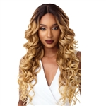 Glamourtress, wigs, weaves, braids, half wigs, full cap, hair, lace front, hair extension, nicki minaj style, Brazilian hair, crochet, hairdo, wig tape, remy hair, Lace Front Wigs, ​Outre &Play Human Hair Premium Blend Swiss Lace Wig - JERICKA