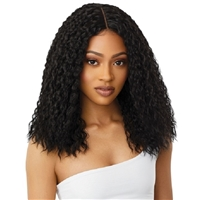 Glamourtress, wigs, weaves, braids, half wigs, full cap, hair, lace front, hair extension, nicki minaj style, Brazilian hair, crochet, hairdo, wig tape, remy hair, Lace Front Wigs, Outre Synthetic I-Part Swiss HD Lace Front Wig - ATLANTA