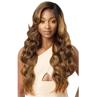 Glamourtress, wigs, weaves, braids, half wigs, full cap, hair, lace front, hair extension, nicki minaj style, Brazilian hair, crochet, hairdo, wig tape, remy hair, Lace Front Wigs, Outre Synthetic Melted Hairline Lace Front Wig - ARIES