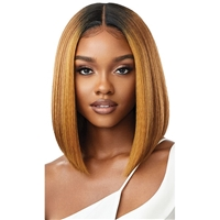 Glamourtress, wigs, weaves, braids, half wigs, full cap, hair, lace front, hair extension, nicki minaj style, Brazilian hair, crochet, hairdo, wig tape, remy hair, Lace Front Wigs, Outre Synthetic Melted Hairline HD Swiss Lace Front Wig - ISABELLA