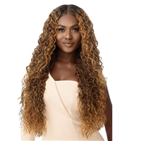 Glamourtress, wigs, weaves, braids, half wigs, full cap, hair, lace front, hair extension, nicki minaj style, Brazilian hair, crochet, hairdo, wig tape, remy hair, Lace Front Wigs, Outre Synthetic Melted Hairline HD Swiss Lace Front Wig - RAFAELLA
