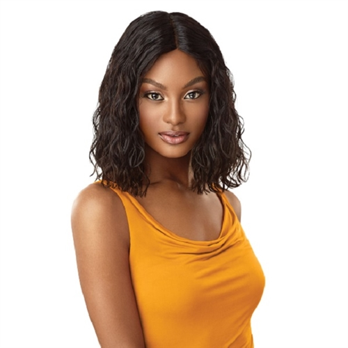 50ed252134caaa Outre 100% Unprocessed Human Hair Lace Part Daily Wig - CURLY BLUNT CUT BOB  14
