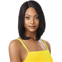 Glamourtress, wigs, weaves, braids, half wigs, full cap, hair, lace front, hair extension, nicki minaj style, Brazilian hair, remy hair, Lace Front Wigs, Outre 100% Unprocessed Human Hair Lace Part Daily Wig - LAYER BOB 16