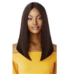 Glamourtress, wigs, weaves, braids, half wigs, full cap, hair, lace front, hair extension, nicki minaj style, Brazilian hair, remy hair, Lace Front Wigs, Outre 100% Unprocessed Human Hair Lace Part Daily Wig - STRAIGHT BLUNT CUT BOB 16