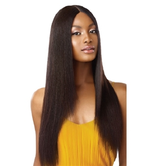 Glamourtress, wigs, weaves, braids, half wigs, full cap, hair, lace front, hair extension, nicki minaj style, Brazilian hair, remy hair, Lace Front Wigs, Outre 100% Unprocessed Human Hair Lace Part Daily Wig - STRAIGHT V CUT 26