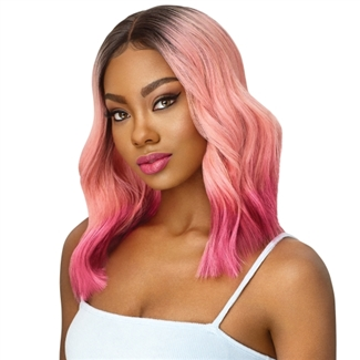 Glamourtress, wigs, weaves, braids, half wigs, full cap, hair, lace front, hair extension, nicki minaj style, Brazilian hair, crochet, hairdo, wig tape, remy hair, Lace Front Wigs, Outre Color Bomb Synthetic Swiss Lace Front Wig - NAHLA