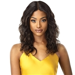 "Glamourtress, wigs, weaves, braids, half wigs, full cap, hair, lace front, hair extension, nicki minaj style, Brazilian hair, crochet, hairdo, wig tape, remy hair, Lace Front Wigs, Outre Mytresses Gold Label 100% Unprocessed Human Hair NATURAL BODY 20"" 22"