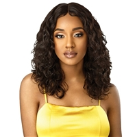 "Glamourtress, wigs, weaves, braids, half wigs, full cap, hair, lace front, hair extension, nicki minaj style, Brazilian hair, crochet, hairdo, wig tape, remy hair, Lace Front Wigs, Outre Mytresses Gold Label 100 Unprocessed Human Hair NATURAL CURLY 20"" 22"