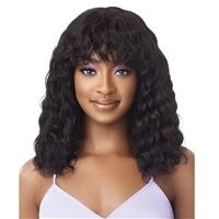 Glamourtress, wigs, weaves, braids, half wigs, full cap, hair, lace front, hair extension, nicki minaj style, Brazilian hair, crochet, hairdo, wig tape, remy hair, Lace Front Wigs, Outre Mytresses Purple Label 100% Unprocessed Human Hair Full Cap Wig - WE
