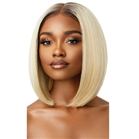 Glamourtress, wigs, weaves, braids, half wigs, full cap, hair, lace front, hair extension, nicki minaj style, Brazilian hair, crochet, hairdo, wig tape, remy hair, Lace Front Wigs, Outre Perfect Hairline 13X4 Synthetic HD Lace Wig - JENISSE