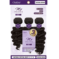 "Glamourtress, wigs, weaves, braids, half wigs, full cap, hair, lace front, hair extension, nicki minaj style, Brazilian hair, crochet, hairdo, wig tape, remy hair, Outre MyTresses Purple Label 100% Unprocessed Hair - NATURAL CRYSTAL DEEP 10"", 12"", 14"""