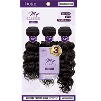 "Glamourtress, wigs, weaves, braids, half wigs, full cap, hair, lace front, hair extension, nicki minaj style, Brazilian hair, crochet, hairdo, wig tape, remy hair, Outre MyTresses Purple Label 100% Unprocessed Hair - NATURAL PASSION WAVE 10"", 12"", 14"""