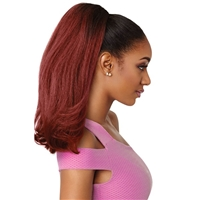 Glamourtress, wigs, weaves, braids, half wigs, full cap, hair, lace front, hair extension, nicki minaj style, Brazilian hair, crochet, hairdo, wig tape, remy hair, Lace Front Wigs, Outre Premium Synthetic Pretty Quick Ponytail - NEESHA BODY 16