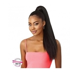 Glamourtress, wigs, weaves, braids, half wigs, full cap, hair, lace front, hair extension, nicki minaj style, Brazilian hair, crochet, hairdo, wig tape, remy hair, Lace Front Wigs, Remy Hair, Outre Pretty Quick Wrap Pony Kinky Straight 24""