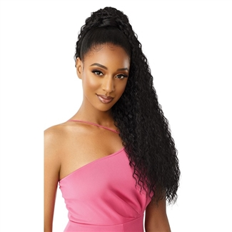 Glamourtress, wigs, weaves, braids, half wigs, full cap, hair, lace front, hair extension, nicki minaj style, Brazilian hair, crochet, hairdo, wig tape, remy hair, Lace Front Wigs, Remy Hair, Outre Premium Synthetic Pretty Quick Ponytail - CRIMP WAVE 30