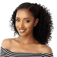 Glamourtress, wigs, weaves, braids, half wigs, full cap, hair, lace front, hair extension, nicki minaj style, Brazilian hair, crochet, hairdo, wig tape, remy hair, Lace Front Wigs, Outre Synthetic Big Beautiful Hair Drawstring Ponytail - 3B BOUNCY CURLS 1