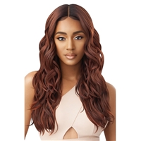 Glamourtress, wigs, weaves, braids, half wigs, full cap, hair, lace front, hair extension, nicki minaj style, Brazilian hair, crochet, hairdo, wig tape, remy hair, Lace Front Wigs, Outre Synthetic Pre-Plucked HD Lace Front Wig - GEORGETTE