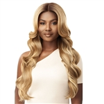 Glamourtress, wigs, weaves, braids, half wigs, full cap, hair, lace front, hair extension, nicki minaj style, Brazilian hair, crochet, hairdo, wig tape, remy hair, Lace Front Wigs, Outre Synthetic Pre-Plucked HD Lace Front Wig - GLORIANA