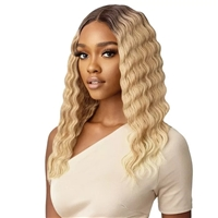 Glamourtress, wigs, weaves, braids, half wigs, full cap, hair, lace front, hair extension, nicki minaj style, Brazilian hair, crochet, hairdo, wig tape, remy hair, Lace Front Wigs, Outre Synthetic Crimp Wave Style HD Lace Front Wig - LUCY