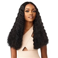 Glamourtress, wigs, weaves, braids, half wigs, full cap, hair, lace front, hair extension, nicki minaj style, Brazilian hair, crochet, hairdo, wig tape, remy hair, Lace Front Wigs, Outre Synthetic Swiss HD Lace Front Wig - SOLANA