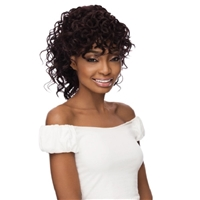 Glamourtress, wigs, weaves, braids, half wigs, full cap, hair, lace front, hair extension, nicki minaj style, Brazilian hair, crochet, hairdo, wig tape, remy hair, Lace Front Wigs, Remy Hair, Outre Synthetic Quick Pony Bang x Pony - CYNDI
