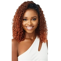 Glamourtress, wigs, weaves, braids, half wigs, full cap, hair, lace front, hair extension, nicki minaj style, Brazilian hair, crochet, hairdo, wig tape, remy hair, Lace Front Wigs, Remy Hair, Outre Quick Weave Wet & Wavy Half Wig - DEEP CURL 14