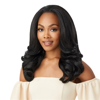 Glamourtress, wigs, weaves, braids, half wigs, full cap, hair, lace front, hair extension, nicki minaj style, Brazilian hair, crochet, hairdo, wig tape, remy hair, Lace Front Wigs, Remy Hair, Outre Synthetic Half Wig Quick Weave - NEESHA H301